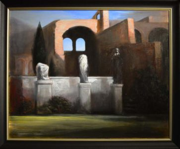 Andreas Wachter, Forum, 80x100 cm, 2013, Öl auf Leinwand