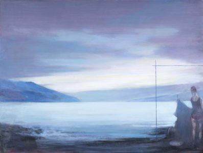 Andreas Wachter, Lake, 77x102 cm, 2016, Mischtechnik auf MdF