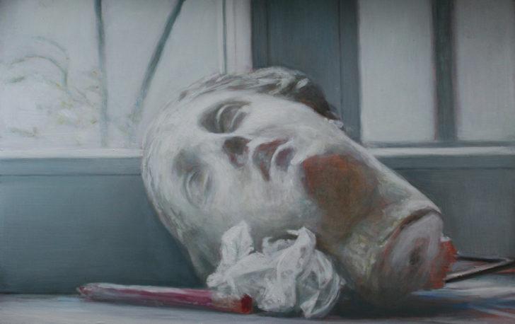 Andreas Wachter, Das Fenster, 39x60 cm, 2011, Mischtechnik auf MdF