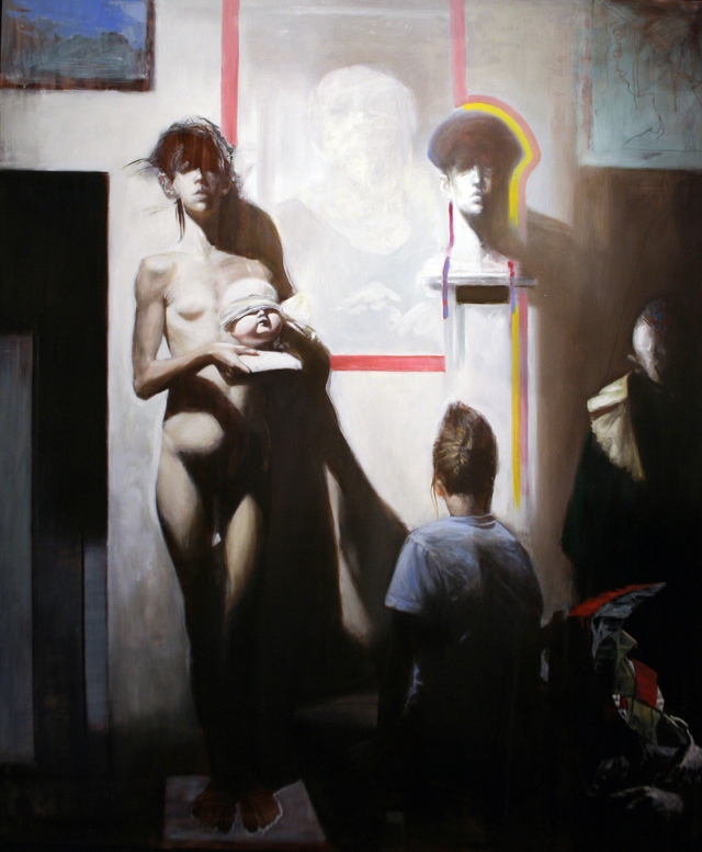 Andreas Wachter, Das Geschenk, 170x140 cm, 2011, Mischtechnik auf MdF