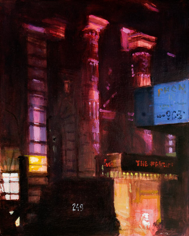 Andreas Wachter, Fifth Avenue II, 30x24,5 cm, 2012, Mischtechnik auf MdF