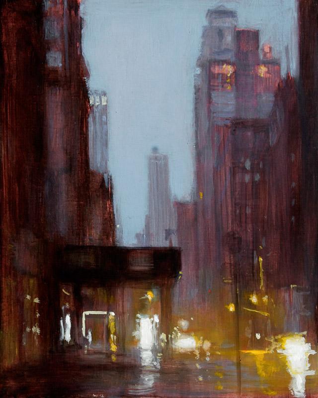 Andreas Wachter, Fifth Avenue I, 30x24,5 cm, 2012, Mischtechnik auf MdF