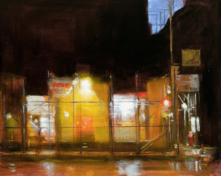 Andreas Wachter, Fifth Avenue VII, 24,5x30 cm, 2012, Mischtechnik auf MdF