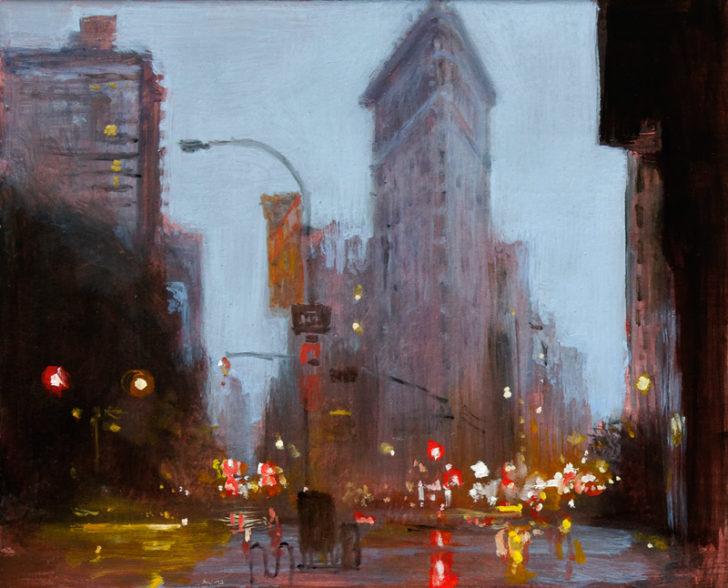 Andreas Wachter, Fifth Avenue VI, 24,5x30 cm, 2012, Mischtechnik auf MdF