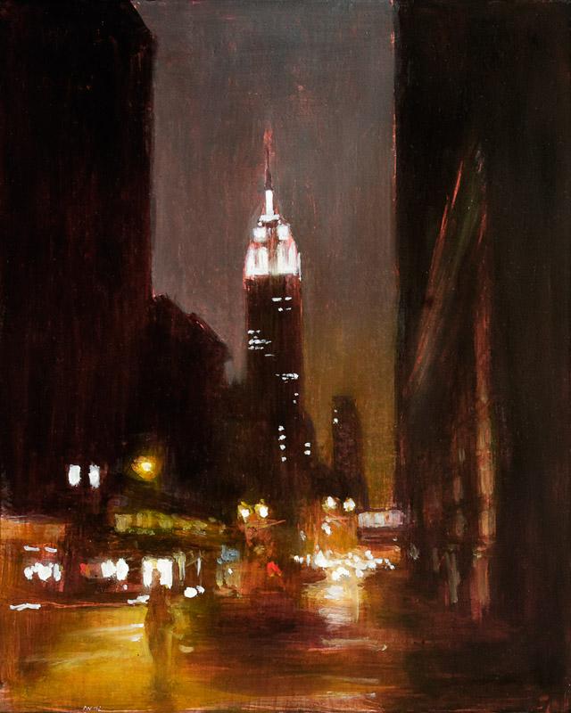 Andreas Wachter, Fifth Avenue III, 30x24,5 cm, 2012, Mischtechnik auf MdF