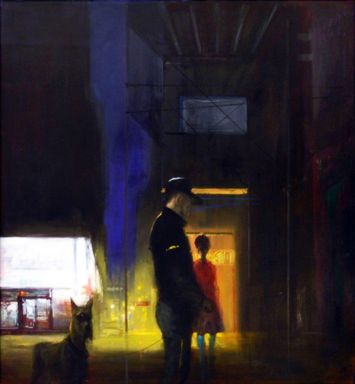 Andreas Wachter, Fifth Avenue, 84x78 cm, Mischtechnik auf MdF
