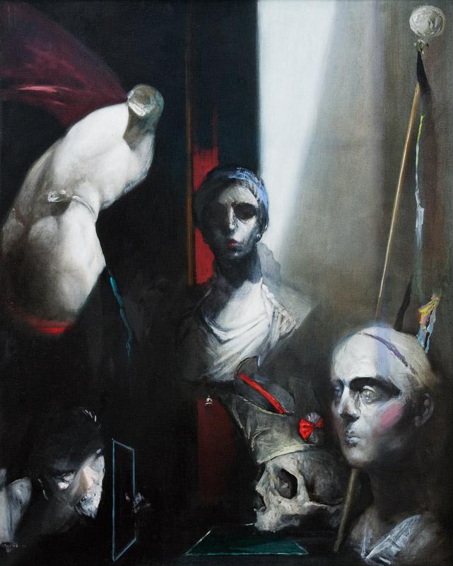 Andreas Wachter, Fragmente, 105x85 cm, 2011, Mischtechnik auf MdF