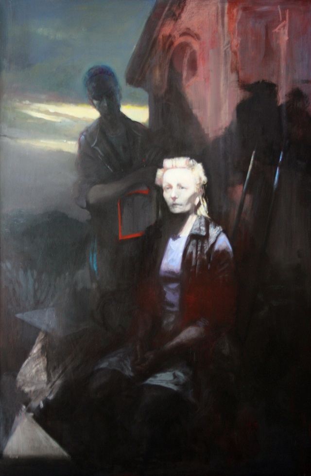 Andreas Wachter, Gunda, 150x100 cm, 2010, Mischtechnik auf Leinwand