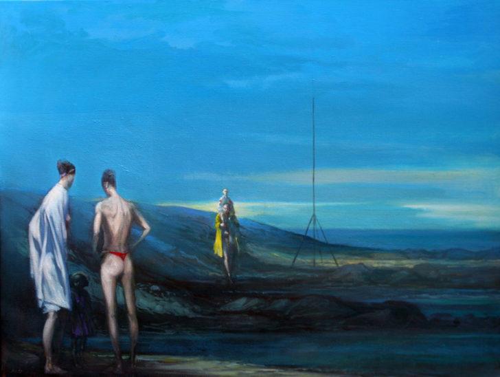 Andreas Wachter, Hafen, 60x80 cm, 2010, Mischtechnik auf Leinwand
