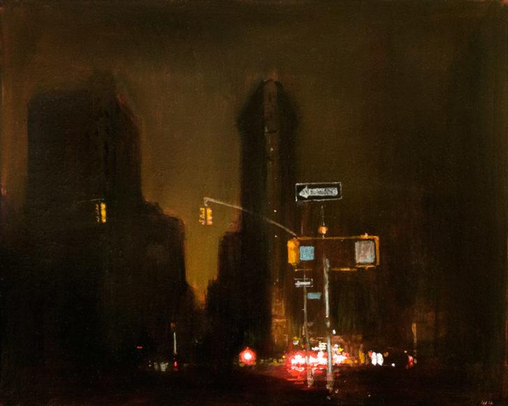 Andreas Wachter, New York, 30x24,5 cm, 2012, Mischtechnik auf MdF
