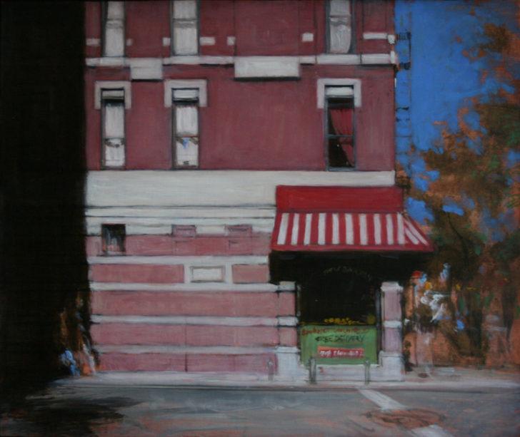 Andreas Wachter, New York, 33x40 cm, 2001, Mischtechnik auf MdF