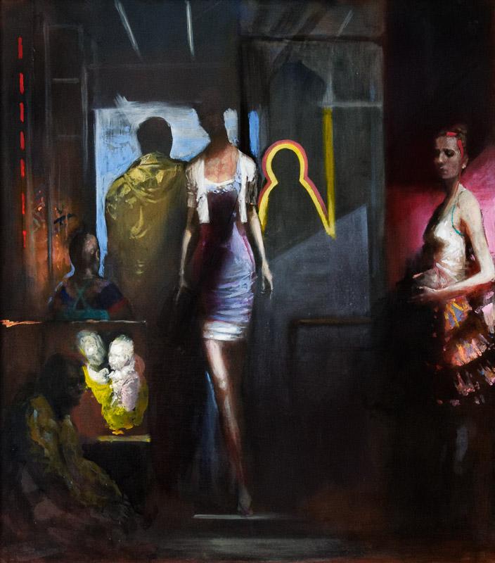 Andreas Wachter, New York, 85x75 cm, 2012, Mischtechnik auf MdF