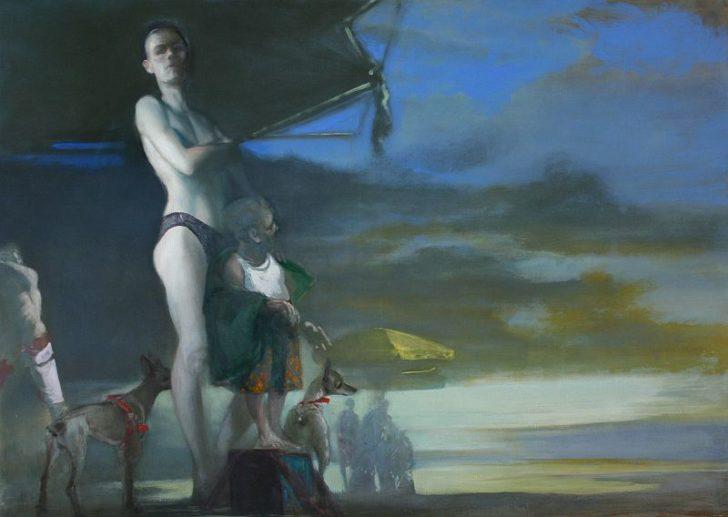 Andreas Wachter, Strand II,100x140 cm, 2010, Mischtechnik auf Leinwand