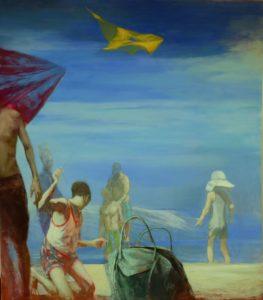 Andreas Wachter, Strand I, 160x140 cm, 2014, Mischtechnik auf Hartfaser