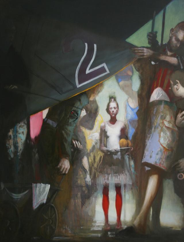 Andreas Wachter, Suzanne, 122,5x95 cm, 2011, Mischtechnik auf MdF