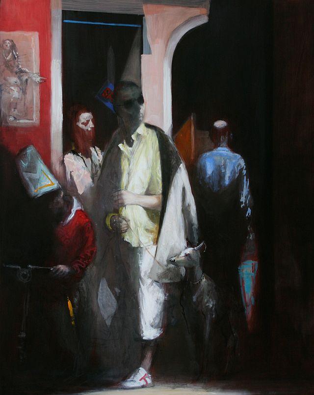 Andreas Wachter, Via II, 100x80 cm, 2010, Mischtechnik auf Leinwand