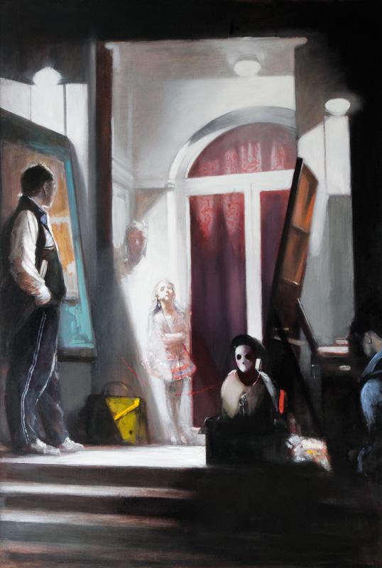 Andreas Wachter, Blackbox, 207x140 cm, 2012, Mischtechnik auf MdF