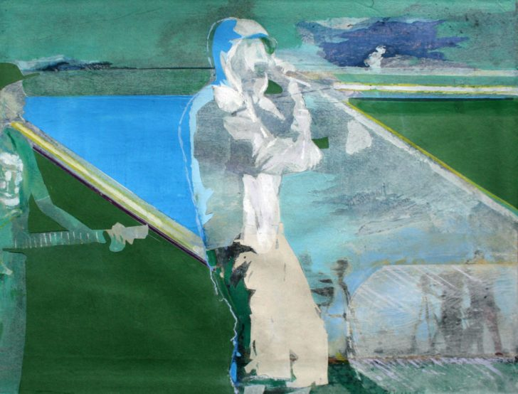 Christiane Wachter, Eminem, 51x67 cm, 2014, Collage auf Papier