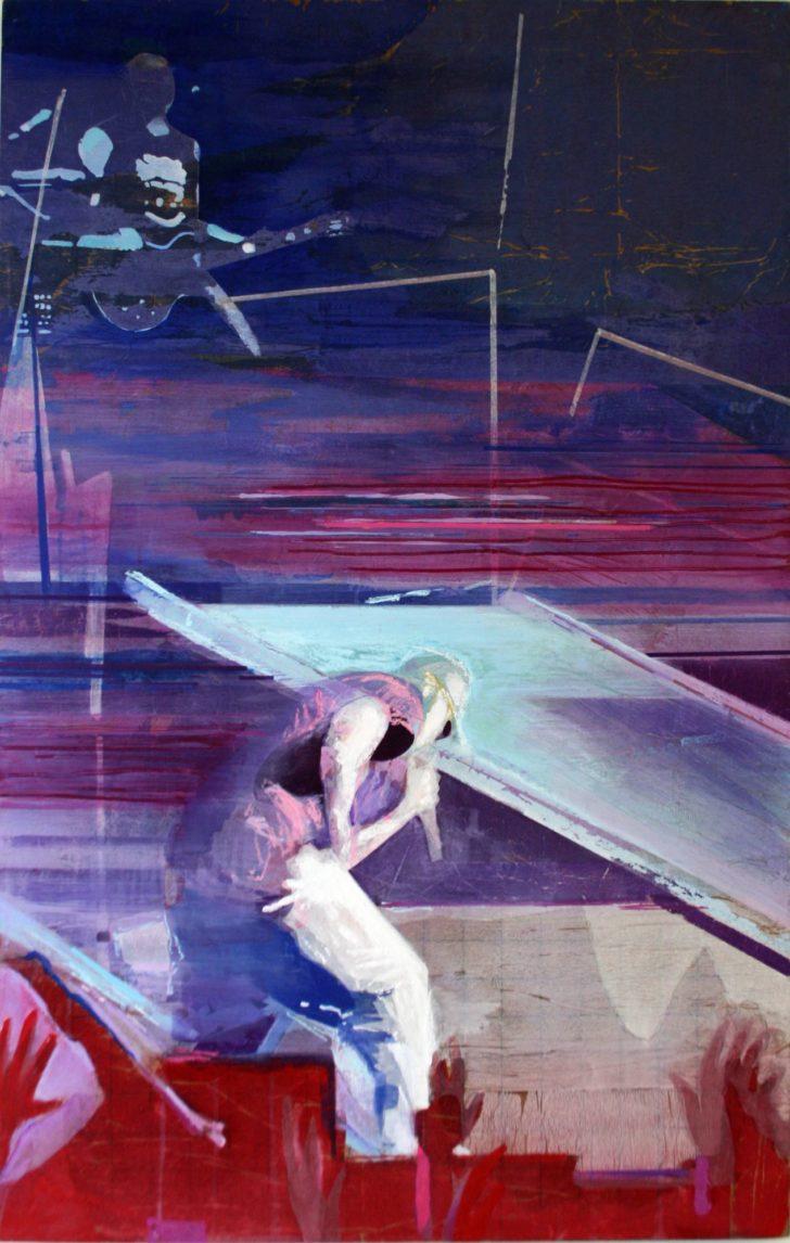 Christiane Wachter, Eminem - Paris , 30x22 cm, 2015, Mischtechnik auf Sperrholz