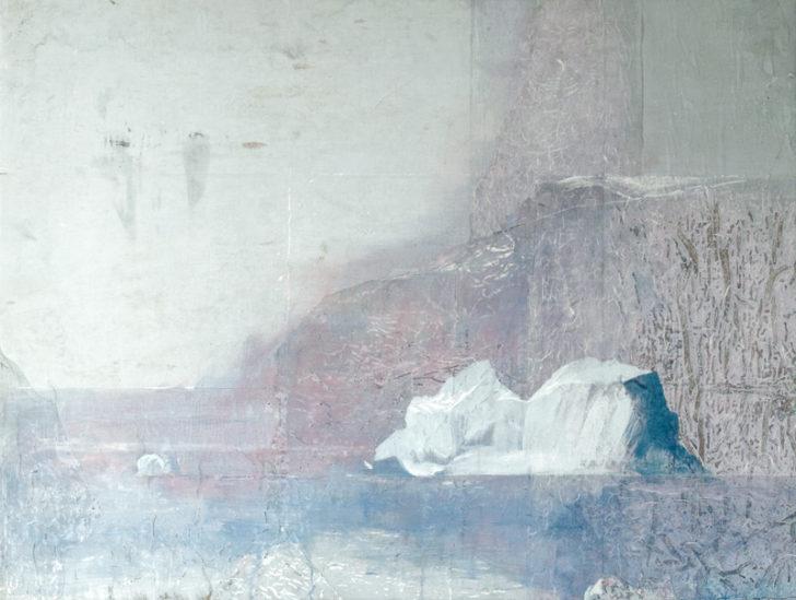Christiane Wachter, Qeqertarsuaq, 126x165 cm, 2012, Mischtechnik auf Leinwand
