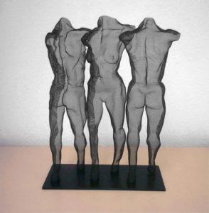 David Begbie, o. T., H.: 49 cm, 1996, Drahtgeflecht