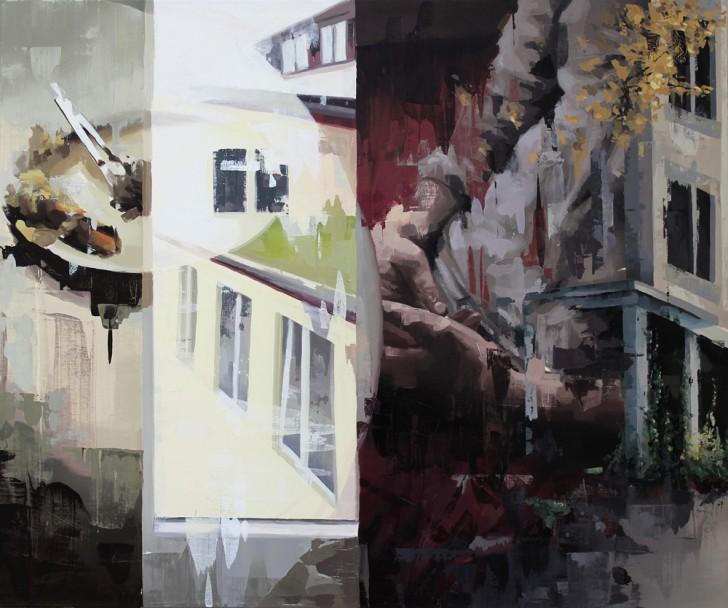 Franz Ehrenberg, Fenster irgendwo, 150x125cm, 2011, Öl auf Leinwand