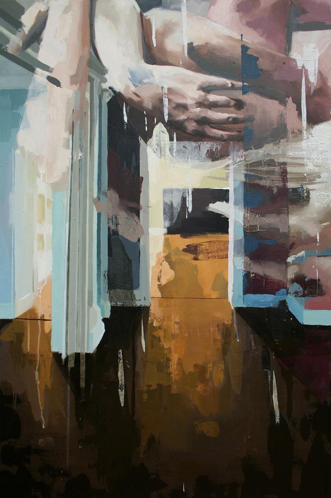 Franz Ehrenberg, room III, 119x80cm, 2011, Öl auf Leinwand