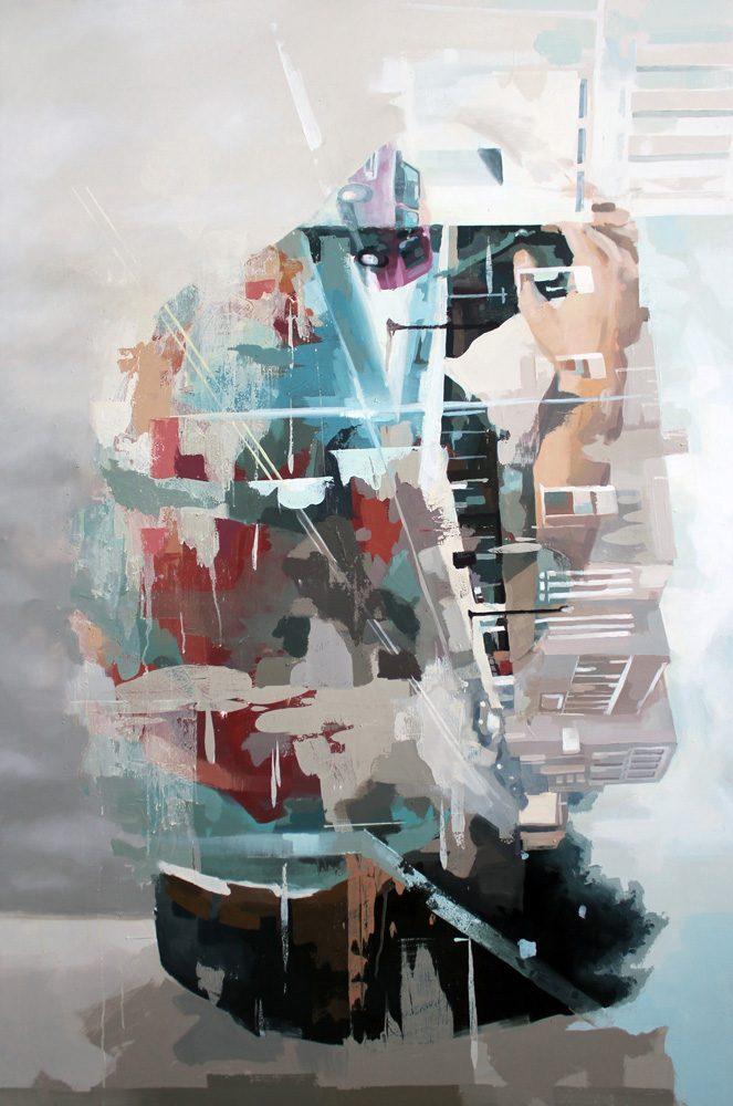 Franz Ehrenberg, root, 120x180cm, 2001, Öl auf Leinwand