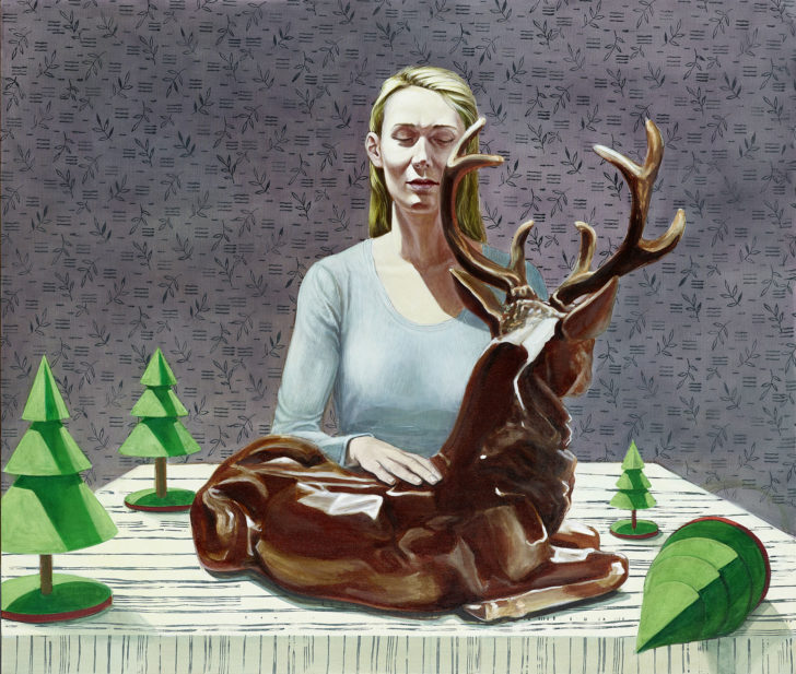 Mathias Perlet, Mitgift, 120x140 cm, 2016, Öl auf Leinwand