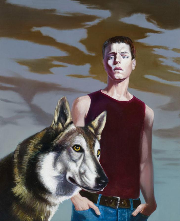Mathias Perlet, Vollmond, 160x130 cm, 2010, Eitempera und Öl auf Leinwand