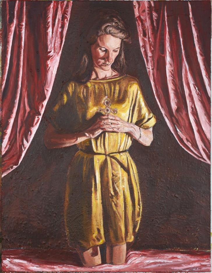 Martin Ziegler, Andacht, 130x100 cm, 2014, Acryl auf Leinwand