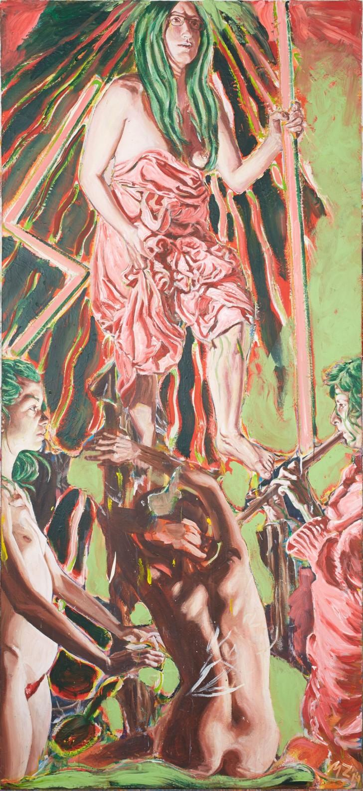 Martin Ziegler, Offenbarung, 200x160 cm, 2014, Acryl auf Leinwand