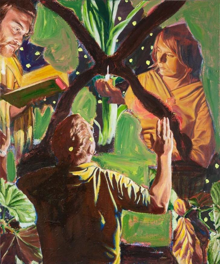 Martin Ziegler, Das Licht, 120x100 cm, 2013, Acryl auf Leinwand