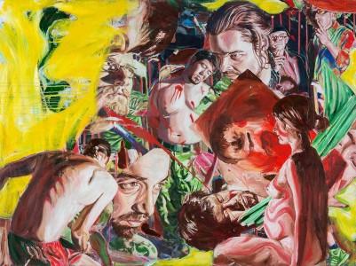 Martin Ziegler, Die Geißelung Christi, 150x200 cm, 2013, Acryl auf Leinwand
