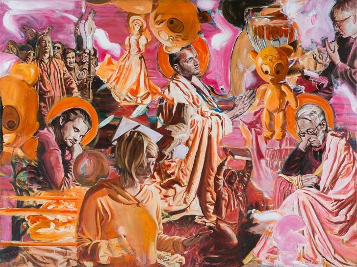 Martin Ziegler, Im Garten Gethsemane, 150x200 cm, 2013, Acryl auf Leinwand