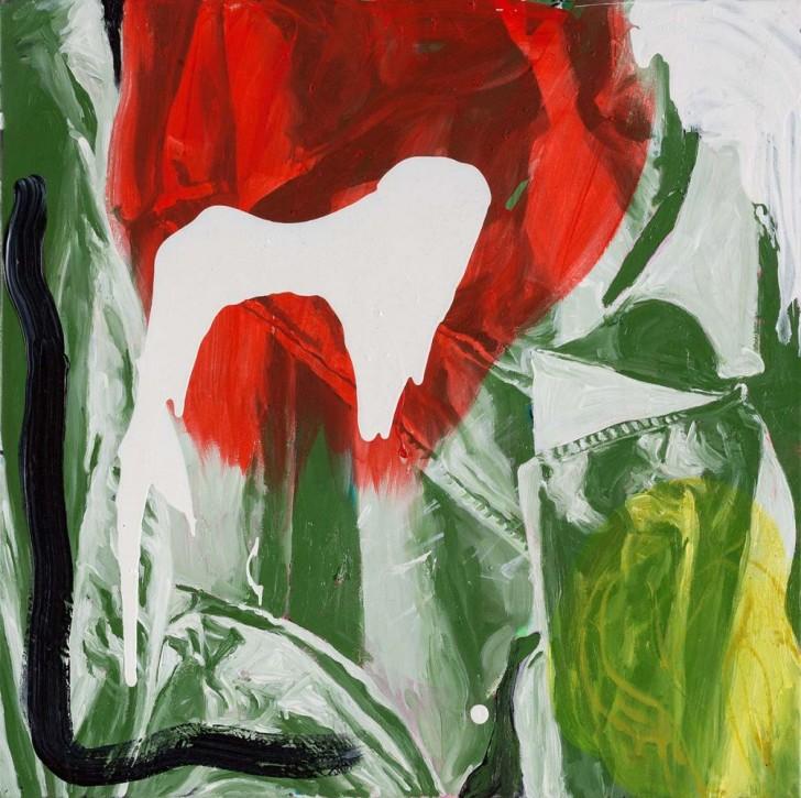 Martin Ziegler, Impro Truppe, 60x60 cm, 2013, Acryl auf Leinwand