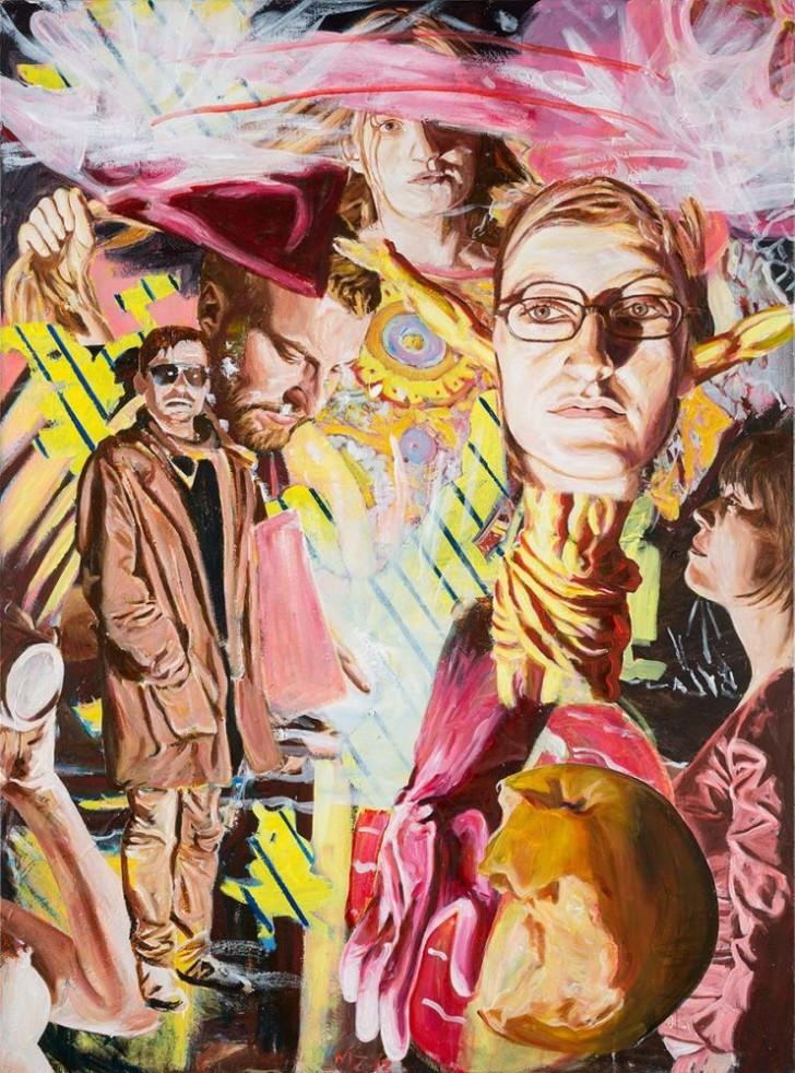 Martin Ziegler, o.T., 150x200 cm, 2013, Acryl auf Leinwand