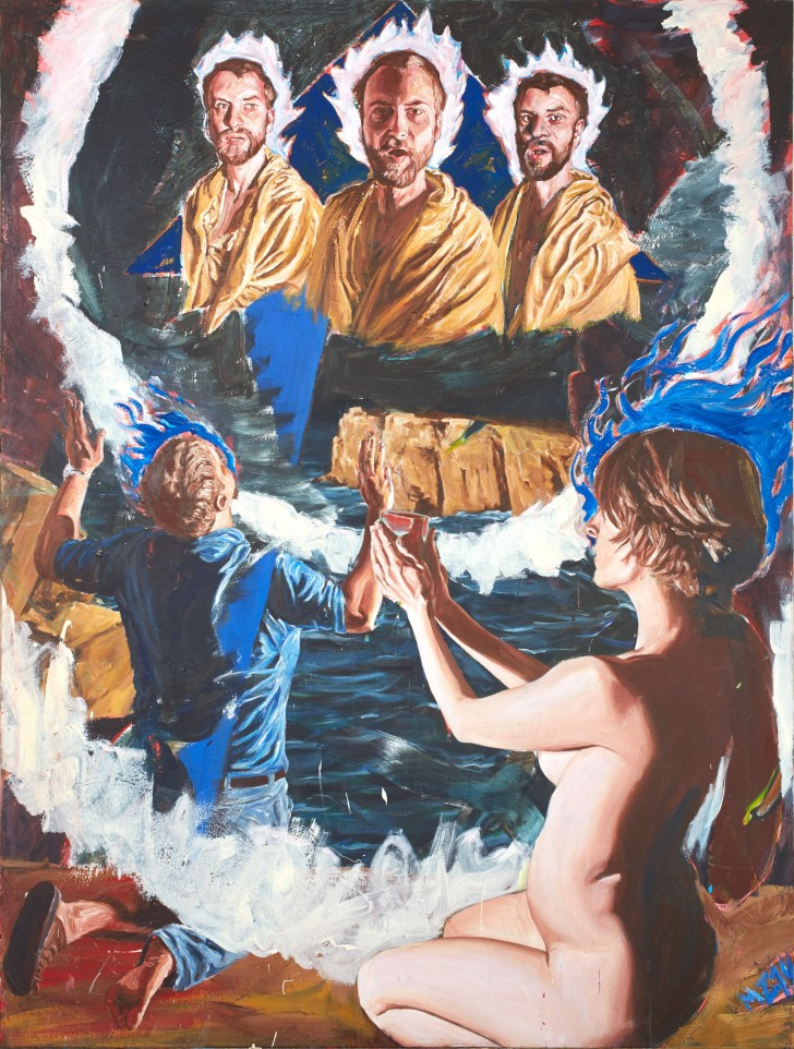 Martin Ziegler, Offenbarung, 200x150 cm, 2014, Acryl auf Leinwand