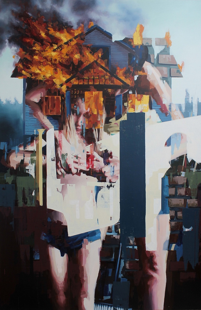Franz Ehrenberg, Sicht I, 260x170cm, 2013, Öl auf Leinwand