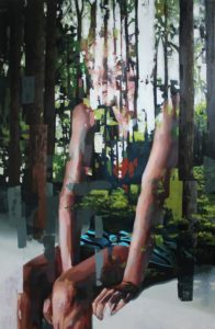 Franz Ehrenberg, Sicht II, 260x170cm, 2013, Öl auf Leinwand