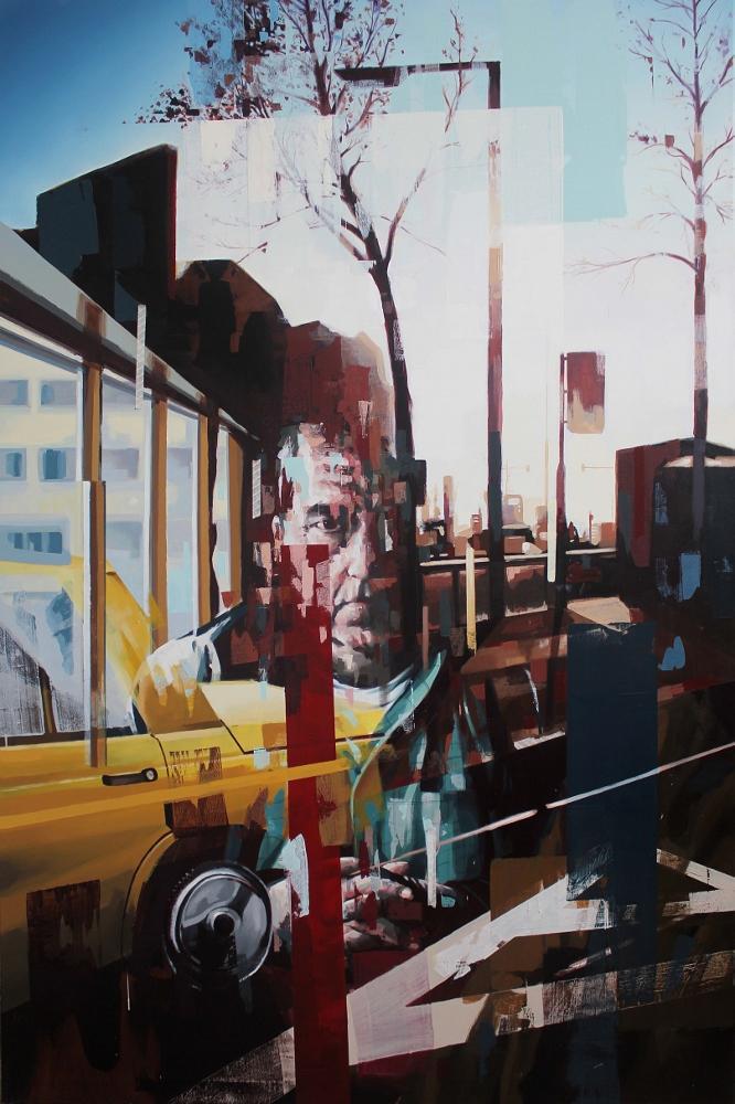 Franz Ehrenberg, Sicht III, 260x170cm, 2013, Öl auf Leinwand