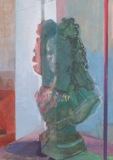 Christiane Wachter, Büste, 100x70 cm, 2009, Collage auf Papier