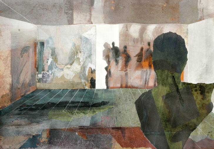 Christiane Wachter, Durchgang, 68x102 cm, 2012, Mischtechnik auf Papier