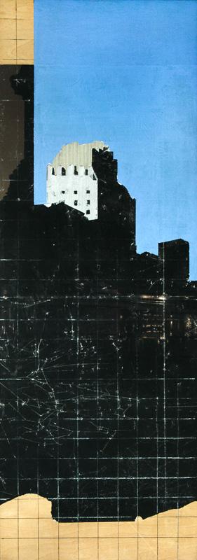 Christiane Wachter, East 42nd, 55x155 cm, 2012, Mischtechnik auf Papier