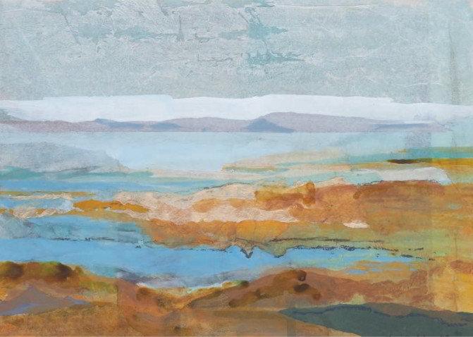 Christiane Wachter, Ebbe, 26x36 cm, 2009, Collage auf Papier