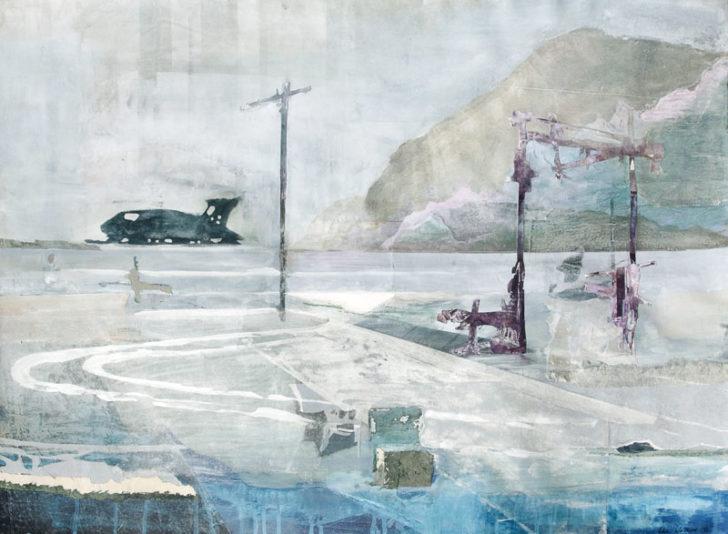 Christiane Wachter, Expedition, 70x100 cm, 2012, Mischtechnik auf Papier