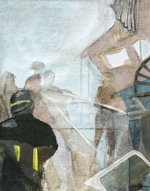 Christiane Wachter, Fuocco, 47x35,5 cm, 2012, Mischtechnik auf Leinwand