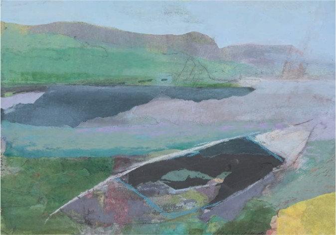 Christiane Wachter, Morgens, 25x36 cm, 2008, Collage auf Papier