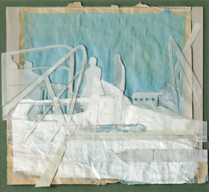 Christiane Wachter, MS Fram, 26x30 cm, 2012, Mischtechnik auf Papier
