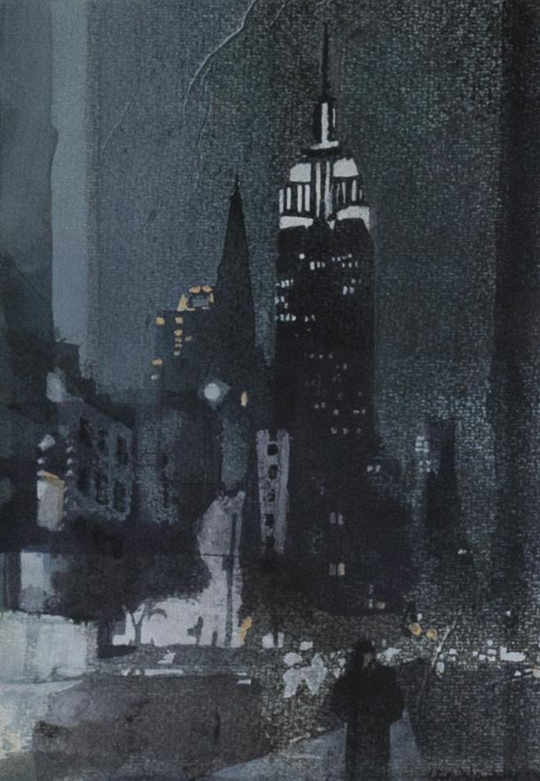 Christiane Wachter, Schöne Aussicht, 22x29,5 cm, 2015, Mischtechnik auf Sperrholz